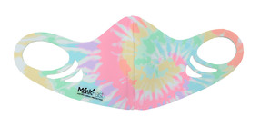 Kids Antimicrobial Spacer Face Mask - Pastel Tie Dye